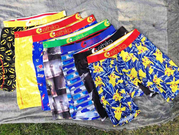 best selling Random styles high quality Ethika Men's boxer underwear sports hiphop rock excise underwear skateboard street quick dry Polyester MIX COLOR