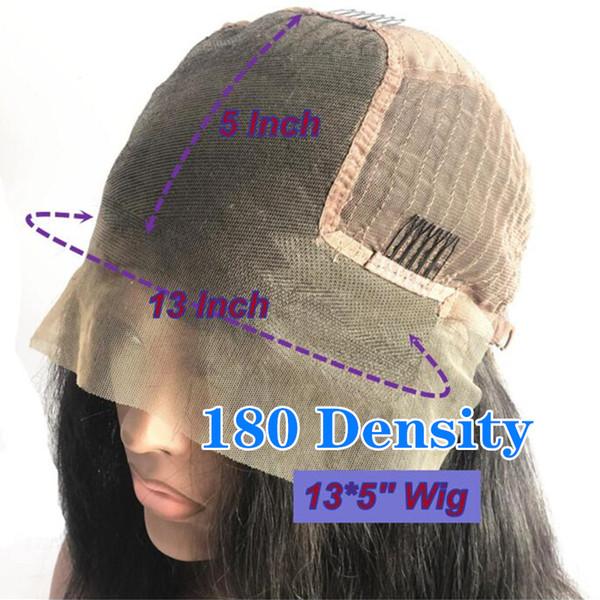 180 Densité 13x5 avant de dentelle perruque