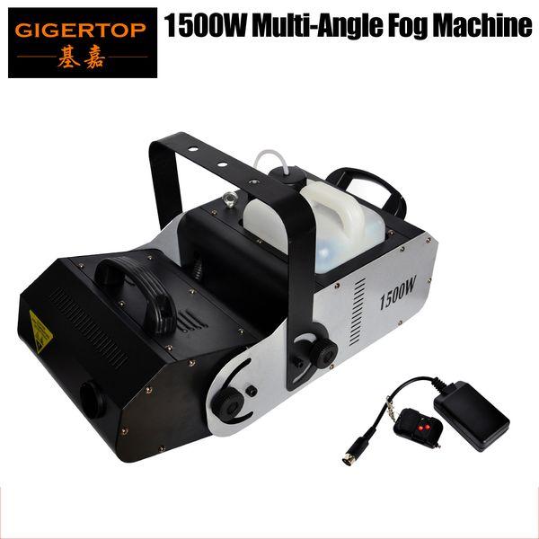 top popular High-Grade Quality Multi-Angle Fog Machine 1500W Strong Rotating Smoking Stage Effect Machine DMX512 Regularly Time Regularly Quantitative 2021