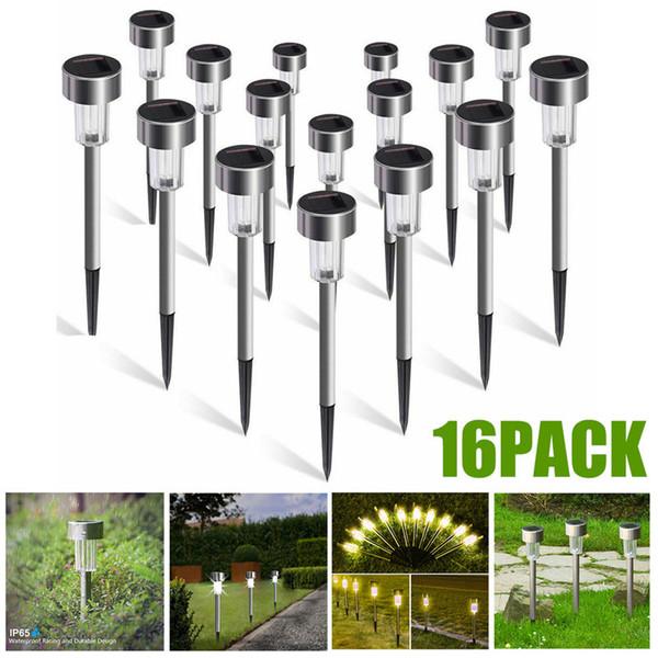best selling 16PCS Mini Solar Garden Lights Outdoor Solar Powered Pathway Lights Outdoor Landscape Spot Lights for Villa Garden Park Balcony C1004