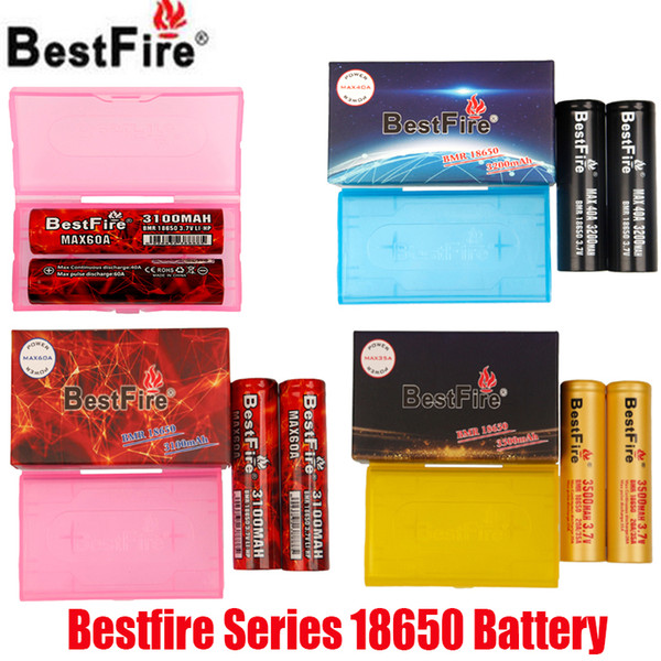 top popular Original Bestfire BMR IMR 18650 Battery 3100mAh 60A 3200mAh 40A 3500mAh 35A 3.7V Rechargeable Lithium Vape Mod Batteries 100% Authentic 2021