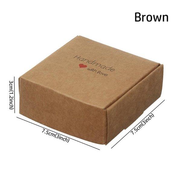 7.5x7.5x3cm Braun