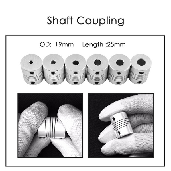Wholesale jaw shaft resale online - heap D Printer Parts Accessories Aluminium CNC Motor Jaw Shaft Coupler To Flexible Coupling OD x25mm Dropshipping