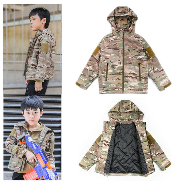 best selling Outdoor Sports Airsoft Gear Jungle Hunting Woodland Shooting Coat Combat Children Clothing Camouflage Kid Child Wadded Jacket NO05-225