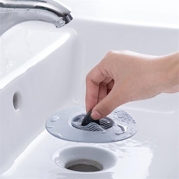 best selling Anti-blocking Floor Drain Silicone Sucker Strainer Sink Filter Hair Stopper Bathroom Kitchen Sink Tool Accessories yq02892