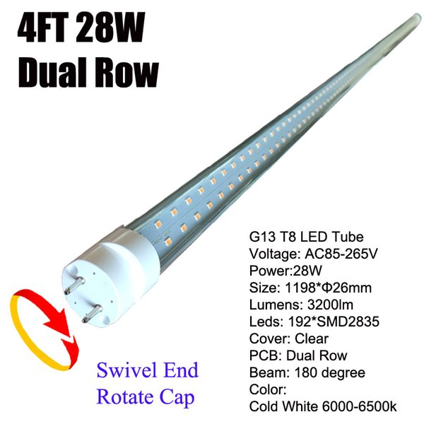 28W G13 4Ft LED Tube Clear Cover