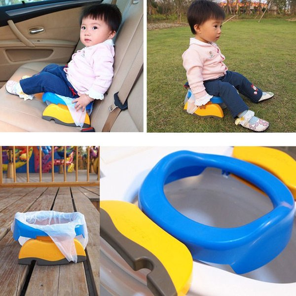 best selling Baby Travel Potty Seat 2 Portable Plastic Toilet Seat Kids Comfortable Assistant Multifunctional Environmentally Stool LJ201110