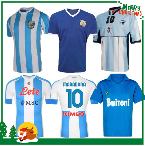 top popular 1978 1986 Argentina Maradona home Soccer jersey Retro 93 94 NEWELLS OLD BOYS 1981 Boca Juniors 87 88 Naples Napoli Football Shirt 2021