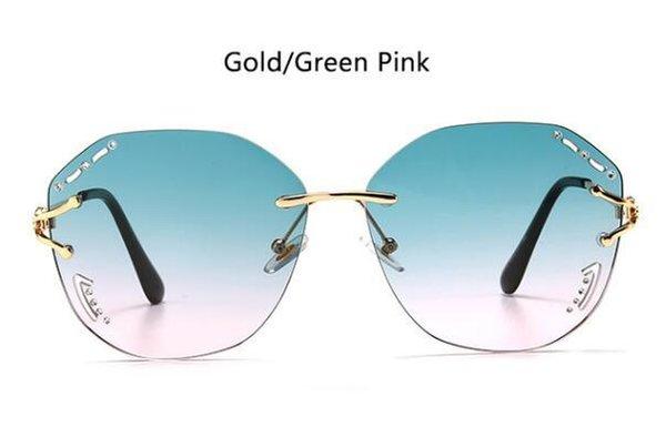 Золотой зеленый розовый