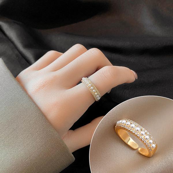 Anillo de perlas # 4840