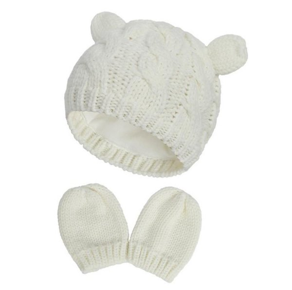 #2 baby hat mittens set