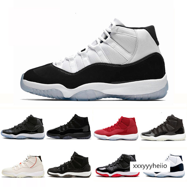 top popular shipping brand J11 Men Prom Night Win Like Shoes Bred Space Jam Discount Barons Space Jam Concords casual breathable shoes 2021