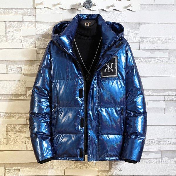 蓝色 NY 羽绒服 羽绒服