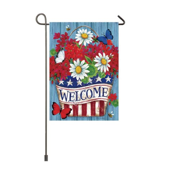top popular Sublimation Polyester Fiber Blank Garden Flag for Valentine's Day Easter Day Hot Transfer Printed Banner Flags Consumables 30*45cm D102904 2021