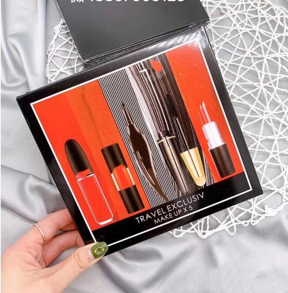 best selling EPACK EPACK MM Makeup Lip Collection Lipstick Liquid Eyeliner Mascara Set Matte Lipstick Women Makeup Set