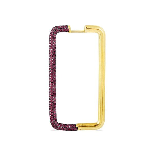 1pc Rose Red in Gold-
