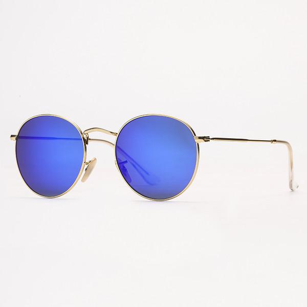 miroir or / bleu
