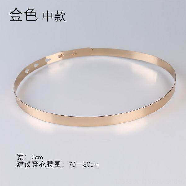 Ancho: 2 cm Oro Medio