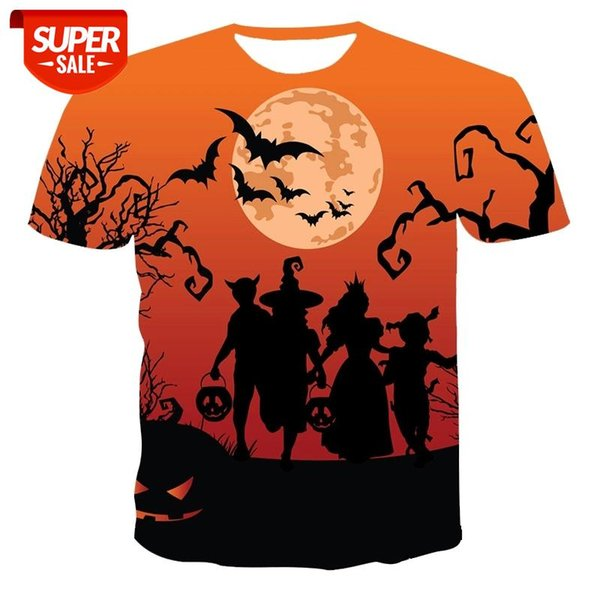 best selling New T-shirt male high-quality male T-shirt Halloween series short sleeve 3D printing stylish and handsome #GS7U