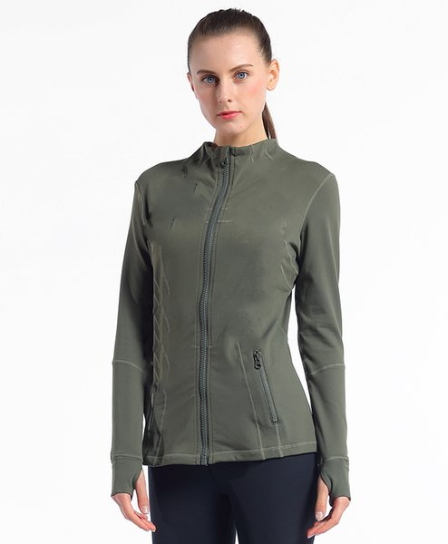 best selling Women Sportswear Zipper Quick Dry Sport Jacket Outwear Yoga Gym Professional polyester Snow running clothing