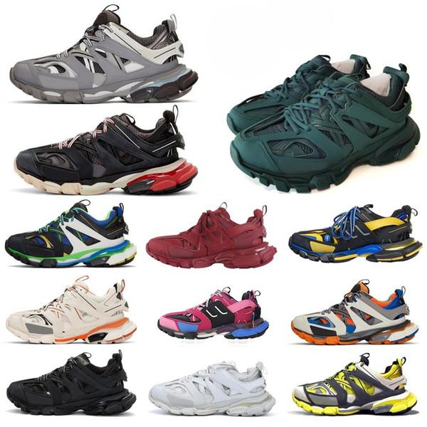 best selling Top Paris 3.0 Track s Triple s Clunky Sneakers Grey Orange mens Blue Version Designer women men Sport shoes Sneaker Size 36-45