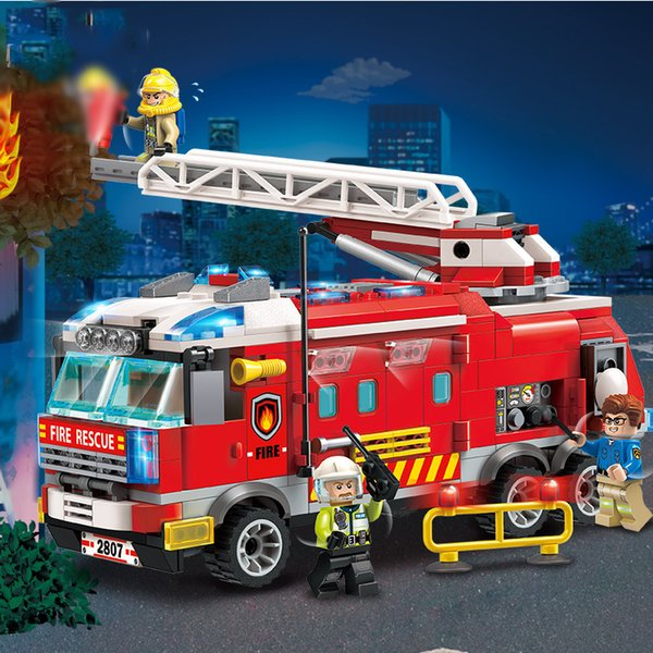 best selling Fire Command Vehicle City Fire Series Building block Toys Compatible with ed Assembl DIY Educating Children Christmas Gifts