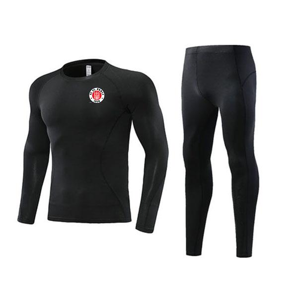 top popular Newest FC St. Pauli Soccer Outdoor Tight Tracksuits Kids Clothing Size22 Men's Athletic Sets Adult Football Warm Suit Size L 2021