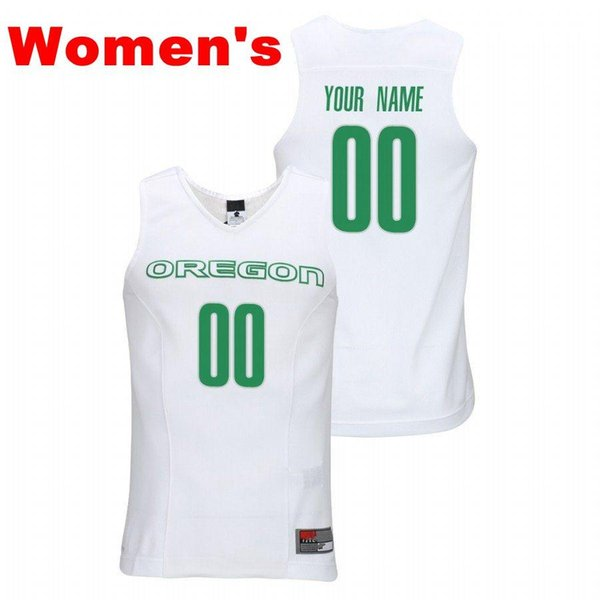 Womens White Green