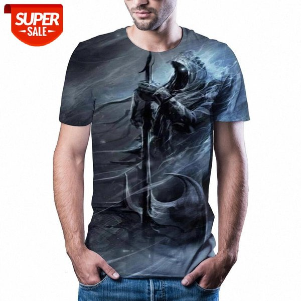 best selling New T-shirt men's high-quality men's T-shirt short-sleeved explosion 3D printed fashion handsome #Ea1S