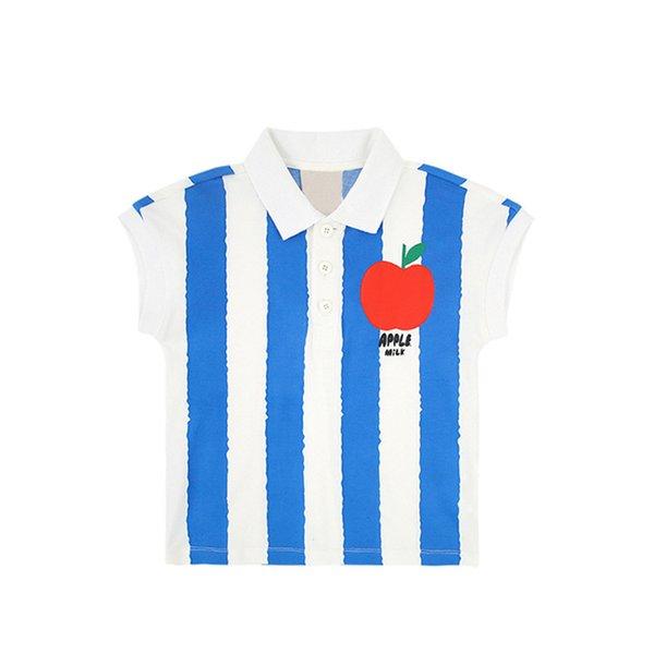 Azul camiseta del polo