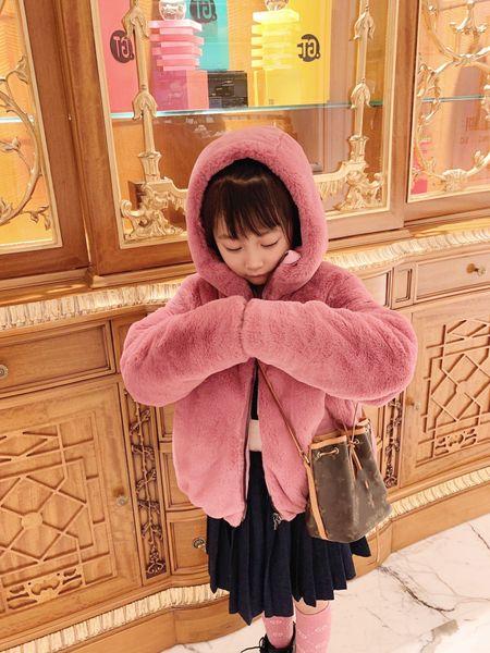 best selling New Winter Kids Girls Plus Velvet Parkas Coat Double-sided Wear Clothing Baby Boys Girls Coats Fashion Children's Jacket