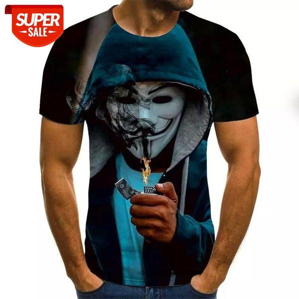 best selling 2020 3D Printed T Shirt Men Joker Face Casual O-neck Male Tshirt Clown Short Sleeve Funny T Shirts 2020 Summer Tee Shirt Homme #hq4G
