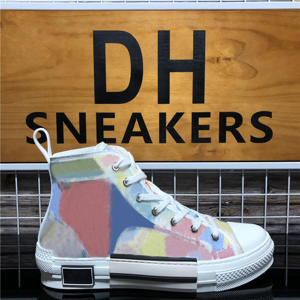 style4-High Top Multicolor Oblique