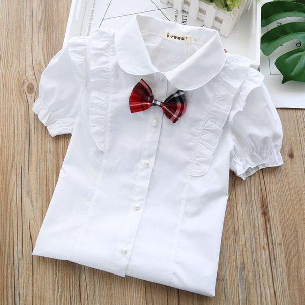 Multi couche dentelle manches courtes + cravate à bow rouge