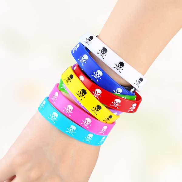 Cool Monster Colorful Custom Silicone Bracelet Skull Head Popular Rubber Sports Wristband & Bangle For Kids Adult Sport brt-a72Q1228 '