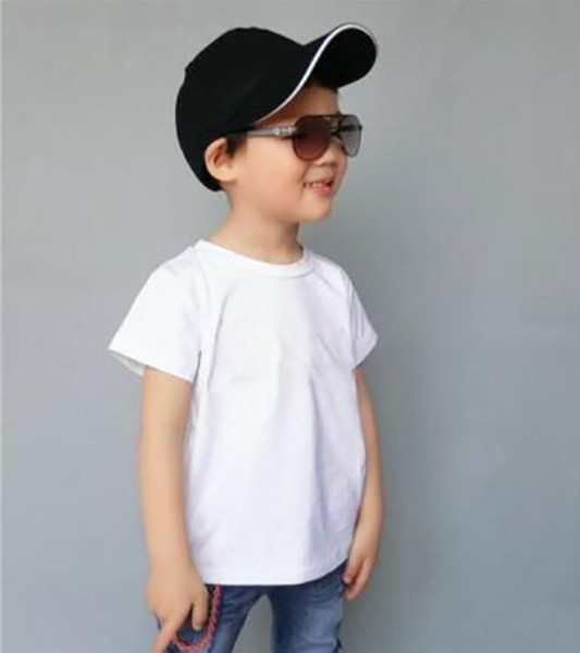 best selling 2019 new    2-9 years old Baby boys girls T-shirts summer shirt Tops cotton children Tees kids Clothing 2 colors