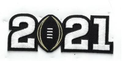 2021 White Number patch