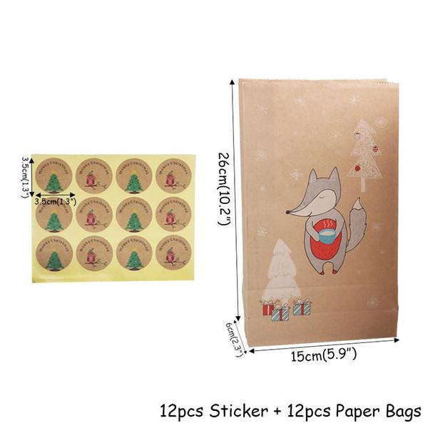 12pcs sac de bonbons