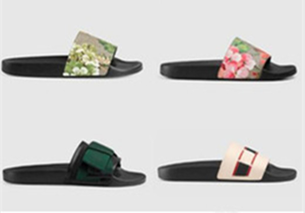 top popular New Hot Men Women Sandals Shoes Slippers Pearl Snake Print Slide Summer Wide Flat Lady Sandals Slipper With Box Dust Bag 35-46 2021