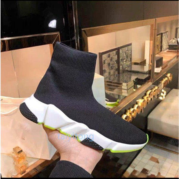 best selling Comfort high quality Casual Shoes Black Men Women Shoes Black Red Fashion Socks shoes Size 36-45