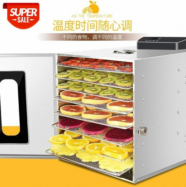 top popular 8 Layers Commercial Professional Stainless Steel Fruit Dryer Small Household Food Vegetable Meat Dry Dried Dehydrator 220v 110v #L47V 2021