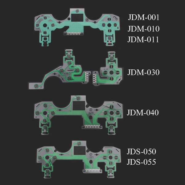 top popular JDS 001 030 040 055 For Playstation4 Conductive Film Keypad for PS4 Pro Slim Controller PCB Circuit Flex Cable FEDEX DHL FREE SHIPPING 2021