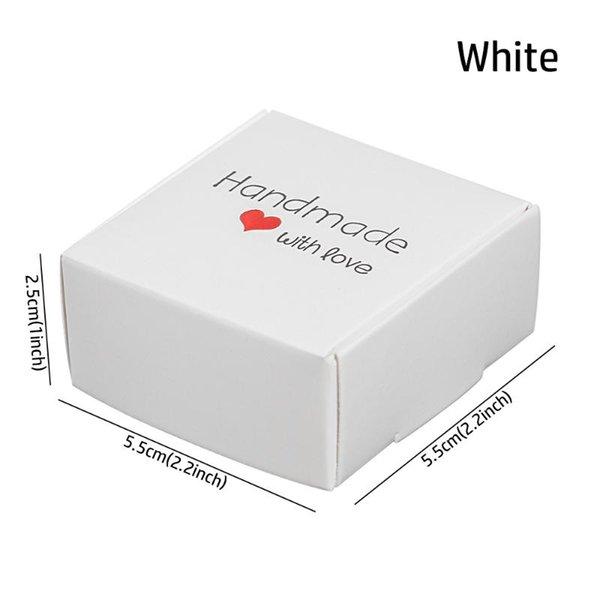 5.5x5.5x2.5cm weiß.