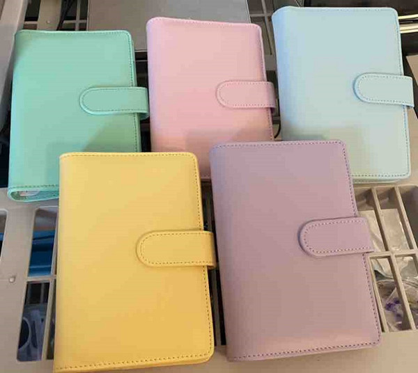 best selling 5 Colors A6 Empty Notebook Binder 19*13cm Loose Leaf Notebooks without Paper PU Faux Leather Cover File Folder Spiral Planners Scrapbook