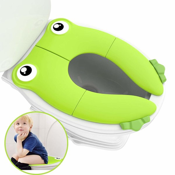 best selling Travel Portable Folding Potty Training Toilet Seat Cover, Non Slip Silicone Pads, Suitable for Kids Baby Boys and Girls LJ201110
