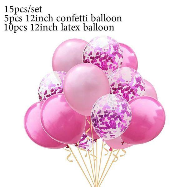 15pcs pink rr set