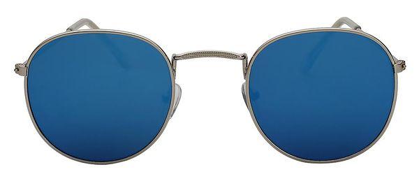 Silver bluee mirror