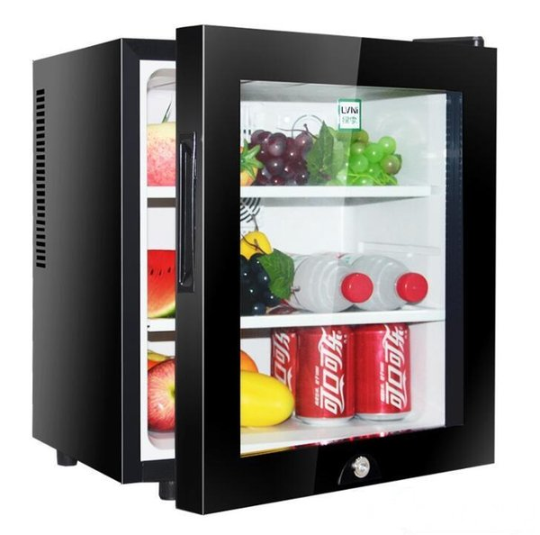 top popular 30L small mini hotel room refrigerator tea fresh glass door refrigerated display freezer factory direct sales 2020