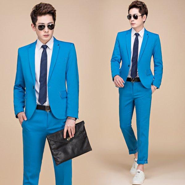 Pantalón de chaqueta azul cielo