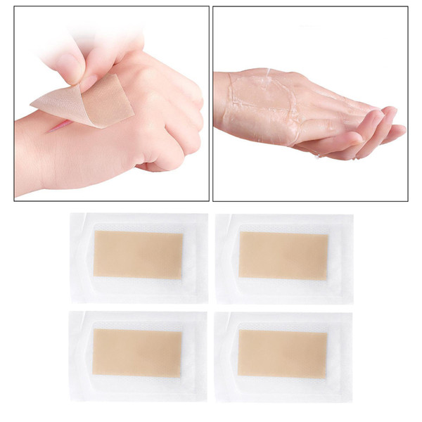 top popular 4 Pieces Breathable Adhesive Tattoo Flaw Tape Invisible Waterproof Scar Birthmarks Bruises Cover Skin Shields Flesh for Legs Hands 2021